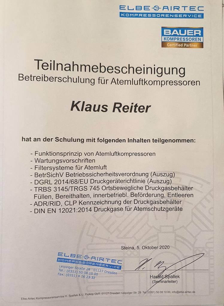 Klaus Zertifikat